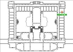 Anteprima foto Piano 1 Corpo centrale Stanza 26