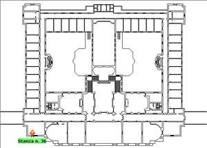 Anteprima foto Piano 1 Corpo centrale Stanza 36