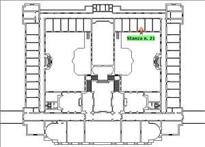 Anteprima foto Piano 1 Corpo centrale Stanza 21