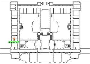 Anteprima foto Piano 1 Corpo centrale Stanza 13
