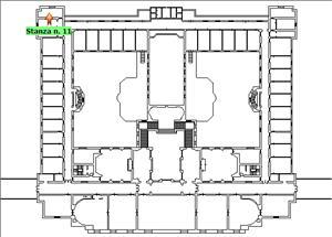 Anteprima foto Piano 1 Corpo centrale Stanza 11
